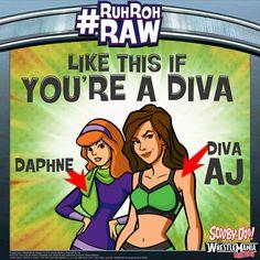 #ScoobyDoo #WWE #RuhRohRaw #Daphne #DivaAJ #Diva