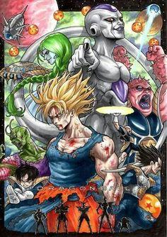 -Dragon Ball Z-The Frieza Saga. Dragon Ball Z, Dragon Ball Image, Fanart, Goku Y Vegeta, Manga Dragon, Dbz Characters, Joker, Illustrations, Character Art