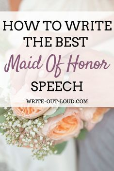 Do you want to make a great wedding toast? Find the best ways to write a beautiful Maid Of Honor speech for your best friends or sisters wedding. Matron Of Honor Speech, Maid Of Honour Gifts, Matron Of Honour, Bridesmaid Speeches, Sister Wedding Speeches, Sister Wedding Gifts, Wedding Toasts, Toast For Wedding, Wedding Speaches
