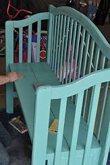 Making a bench out of the crib.Cassandra Design: Search results for crib bench Furniture Projects, Furniture Makeover, Home Projects, Diy Furniture, Furniture Plans, System Furniture, Chair Makeover, Furniture Refinishing, Luxury Furniture