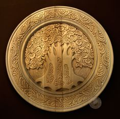 Фотография Chip Carving, Woodcarving, Wood Work, Door Design, Wood Crafts, Celtic, Magnets, Decorative Plates, Projects To Try