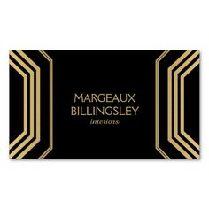 If you're looking for an art deco-inspired business card with a modern glamour motif - this is for you. Designed for interior designers, stylists or decorators, but can work for any profession. Just click the image to personalize the front and back with your own info to see how it looks. Easy to order and ships quickly.