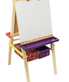 b-toys-easel-does-it-folding-wooden-art-easel-with-chalkboard-whiteboard-and-storage-bins-0