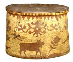 Indian birch bark container