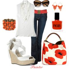 love coral!  Created by mels777 via polyvore