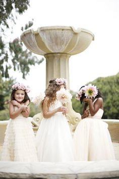 Style Me Pretty | Adorable photo of the flower girls!
