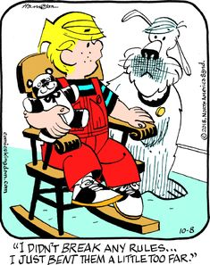 Dennis the Menace « ArcaMax Publishing Funny Cartoon Pictures, Comic Pictures, Dennis The Menace Cartoon, Comic Boards, Funny Cartoons, Funny Jokes, A Comics, Betty Boop, Just For Laughs