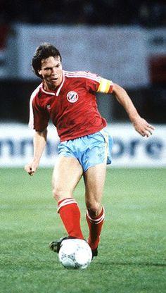 Real v Bayern: Bayern Munich captain Lothar Matthaus in 1987