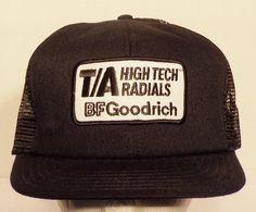 490eb7e42ea T A BF Goodrich Radials Snapback Vintage Baseball Truckers Hat Cap
