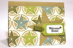 Welcome Home Card by Heather Nichols for Papertrey Ink (June 2012)