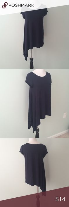 The Limited Navy blue asymmetrical hem Top One of my favorite tops. Really looks good with everything...jeans, dress pants, You name it! Soft fabric. Has a hole on sleeve. I usually wore a light sweater over it, so wasn't visible. Some fuzzies under arm areas. The Limited Tops