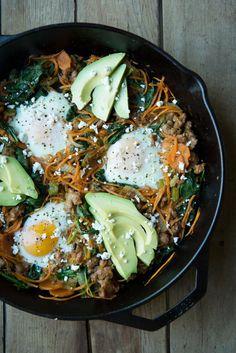 Sweet Potato Breakfast Skillet [ 4LifeCenter.com ] #food #life #health