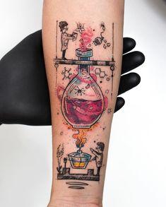 Finger Hand tats, Hand tattoos for women small, Back of arm tattoo wom… Mini Tattoos, Body Art Tattoos, Small Tattoos, Sleeve Tattoos, Cool Tattoos, Tatoos, Finger Tattoos, Chemistry Tattoo, Science Tattoos