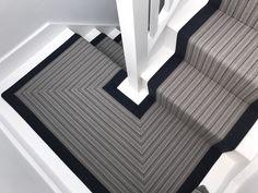 Zennor 2 Flatweave Runner | Urbane Living | #stairs #stairunner #staircase #interiordesign Stairway Carpet, Carpet Stairs, Dark Wood Floors, Engineered Wood Floors, Edwardian House, Victorian Homes, Staircase Runner, Stair Runners, Wood Floor Installation