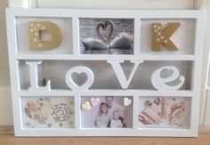 Cadeau voor trouwerij Just Married, Holidays And Events, Diy Gifts, Wedding Gifts, Presents, Gift Wrapping, Joy, Romantic, Frame
