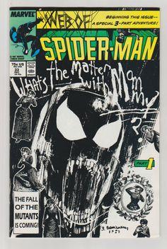 Web of Spiderman; Vol 1, 33, Copper Age Comic Book. NM-. December 1987.  Marvel Comics. #spiderman #billsiekiewicz #comicsforsale