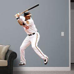 Adam Jones REAL.BIG. Fathead Wall Graphic | Baltimore Orioles Wall Decal | Sports Décor | Baseball Bedroom/Man Cave/Nursery