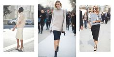 The Chunky Knit & Pencil Skirt Pairing We Love