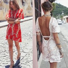 1d15682309 Vintage Hippie Boho Embroidery Floral Lace Crochet Shirt Tops Mini Party  Dress Z
