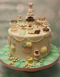 Dessert table cake....such a cool idea
