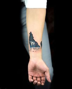 Small night wolf on the wrist. Tags: Best, Amazing, Beautiful