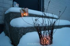 hemma hos Johanssons: DIY lodowe latarenki vinter islykta, icelantern with wonderful winter feeling
