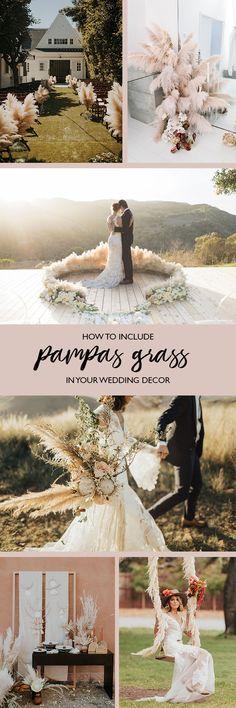 pampas grass in wedding decor #weddingdecoration