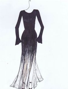 Fading Black Dress/Gown Fashion Design by Tiffany Rose Monahan