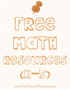 Free Math Resources Pinterest Board Primarily for Grades K-5