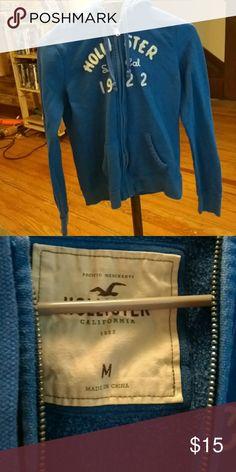 Hollister zip up jacket Perfect condition. Zip up. Hollister Tops Sweatshirts & Hoodies