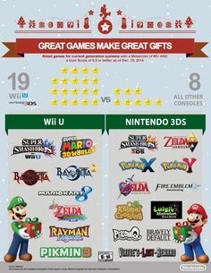 """""""Great games make great gifts, and there are more great games on Nintendo platforms than anywhere else!"""""""