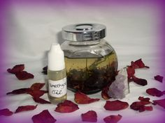Amethyst Ritual Oil Sleeping Psychic Chakra Protection by RedCatt