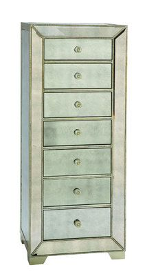 Murano Collection Mirrored Lingerie Chest from GlamFurniture.com - $1087.00