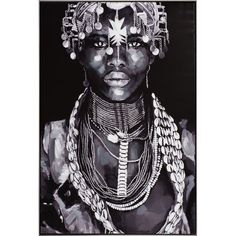 Framed Photographic Print on Canvas East Urban Home - Size: Oversized (Over High) Africa Art, West Africa, Canvas Art, Canvas Prints, Black Women Art, Interesting Faces, Tribal Art, Tribal Images, Geisha