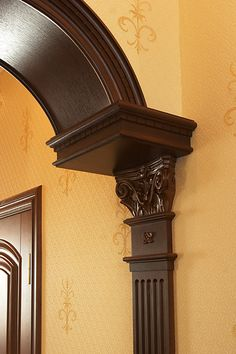 Archway With Corbels Wood Corbels Hand Carved With Many