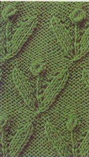 Free Knitting Patterns: Flower sprigs