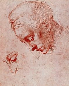 Michelangelo - Head of Leda (study)