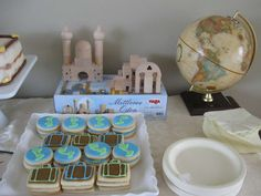 Welcome to the World (Travel Themed) Baby Shower | CatchMyParty.com