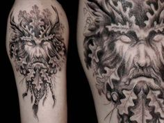 The Green Man Tattoo...this is some fabulous work!