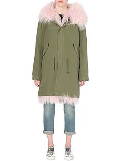MR & MRS ITALY Shearling and cotton-twill parka coat