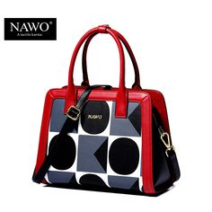 be1cda8f2f50 NAWO Geometric Women Shoulder Crossbody Bag Famous Brand Women Handbags  Leather Saffiano Bag Female Vintage Bag