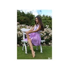SheIn(sheinside) Purple Halter Applique Flare Dress ($25) ❤ liked on Polyvore featuring dresses, halter top, short dresses, flare dress, green halter dress and short flare dress