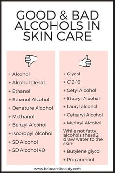 ALCOHOL IN SKIN CARE Babe + Beauty | Esthetician + Organic Beauty Blogger