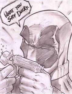 Deadpool  -  #Deadpool #Fan #Art. (Deadpool Sketch Shot) By: Steven Sanchez...