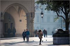 Cracow autumn market square