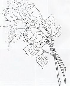 Pintura em Tecido Passo a Passo Com Fotos: Pintura em Tecido Novos Riscos de Flores