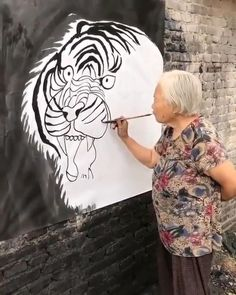 Cool Art Drawings, Art Drawings Sketches, Art Et Nature, Wow Art, Art Moderne, Art Graphique, Painting & Drawing, Tiger Painting, Creative Art