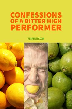 High performers have a propensity towards being bitter because they don't understand why others are not high performers. To understand why this happens, you must understand first that it is repressed anger. And then, determine what you are angry about.