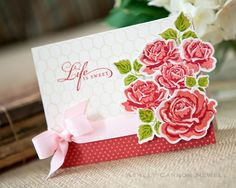 Life Is Sweet Card by Ashley Cannon Newell for Papertrey Ink (July 2012)