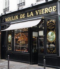 """Le Moulin de la Vierge - Historical boulangerie rue St Dominique 75007 PARIS """"Mill of the Virgin"""" Paris France, Paris Paris, Paris City, St Dominique, Boutiques, Café Bar, Ivy House, Belle Villa, Shop Fronts"""